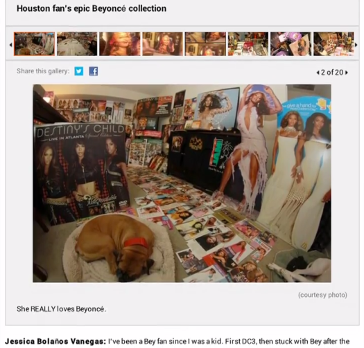 image: Houston Chronicle - Chron.com Article: Beyonce Biggest Fan